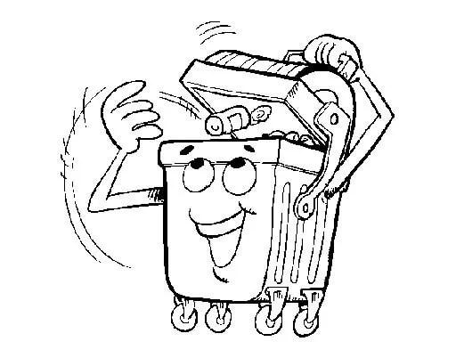 colorear contenedores reciclaje