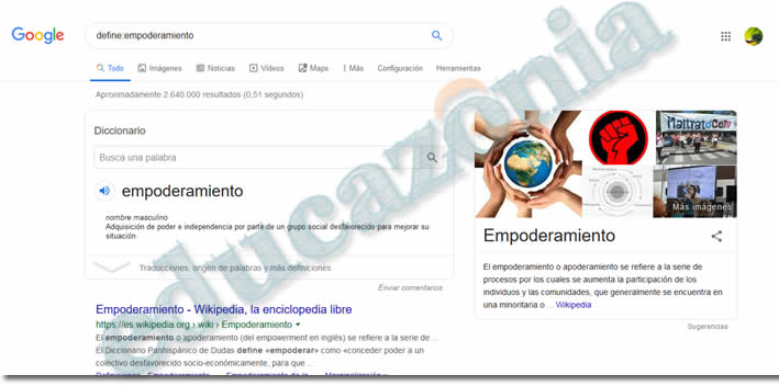 busquedas efectivas en google con define