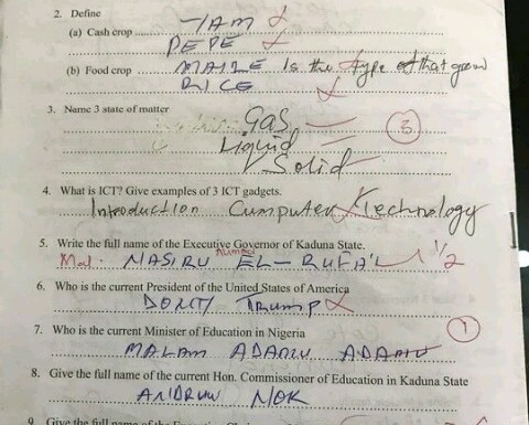 See the competency test Kaduna teachers failed