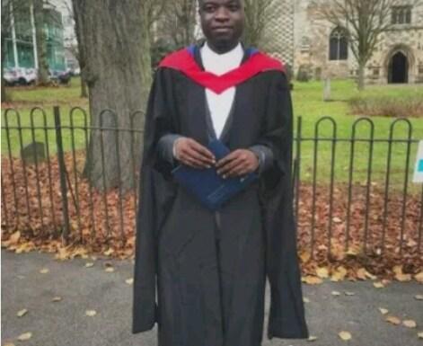 Nigerian man graduates top with distinction at British University