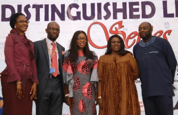 Say no to drugs, cultism, Ambode's wife urges LASU students
