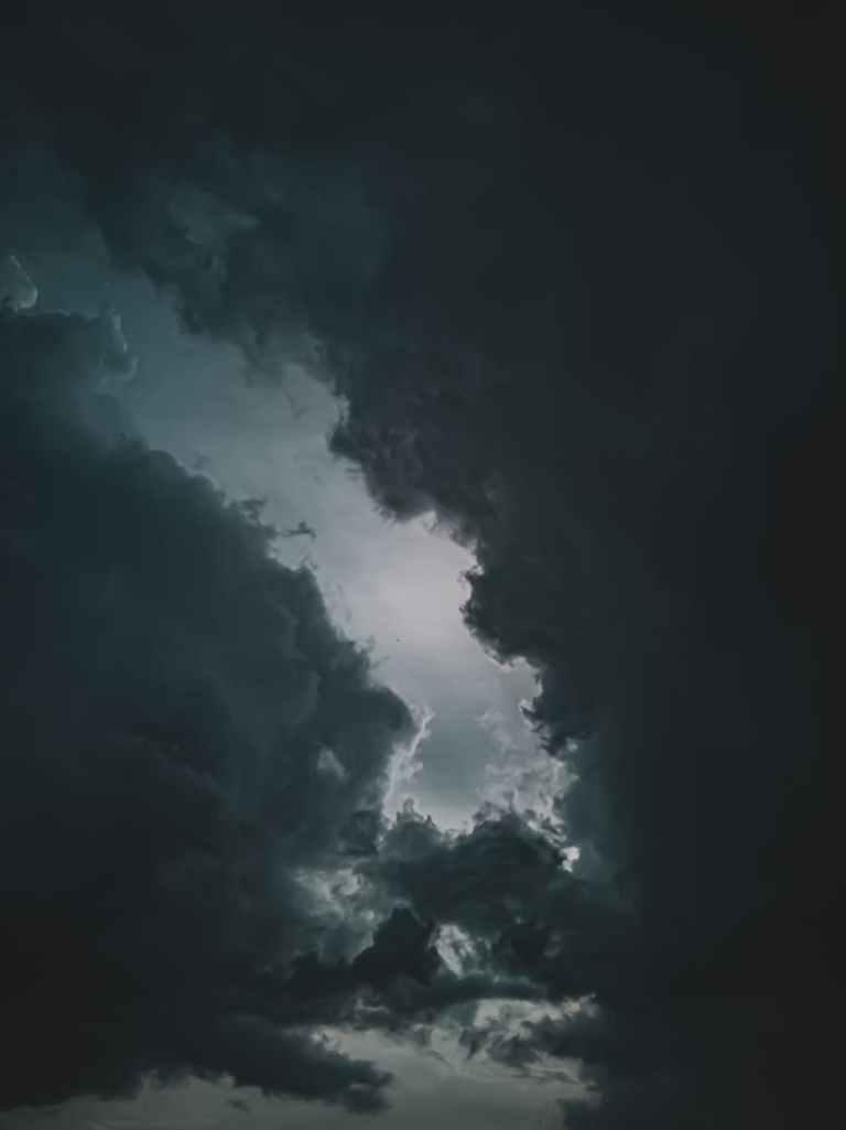 dark clouds in the sky