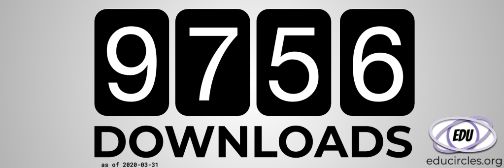 Our teaching resources have been downloaded 9756 downloads as of Mar 31, 2020