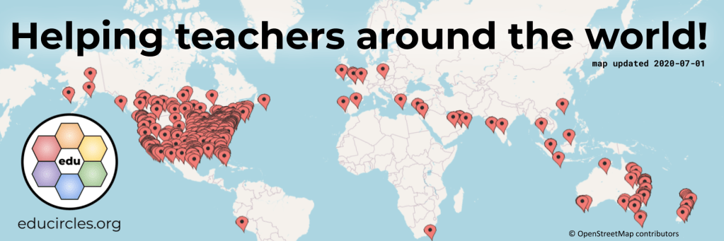 World map showing where people have purchased Educircles lesson plans