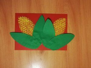 Kolby kukurydzy – praca plastyczna z wykorzystaniem folii bąbelkowej
