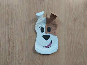 Reksio - praca plastyczna z wykorzystaniem talerzyka papierowego