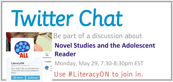 Literacy K-12 Twitter Chat - April
