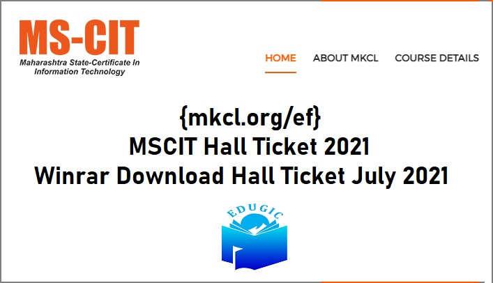 MSCIT Hall Ticket 2021