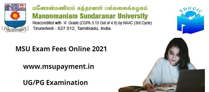 MSU Exam Fees Online 2021