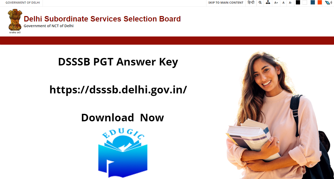 DSSSB PGT Answer Key 2021