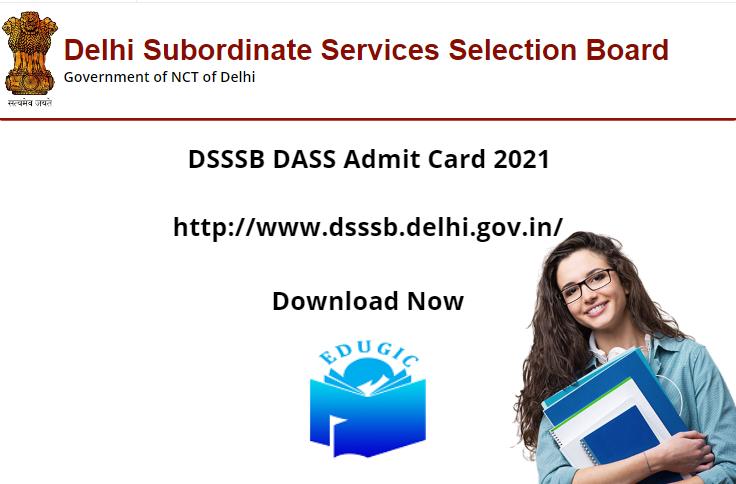 DSSSB DASS Admit Card 2021