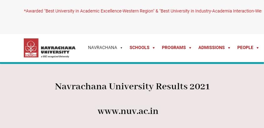 Navrachana University Results 2021