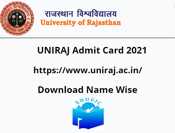 UNIRAJ Admit Card 2021 Non College