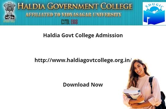Haldia Govt College Admission 2021-22