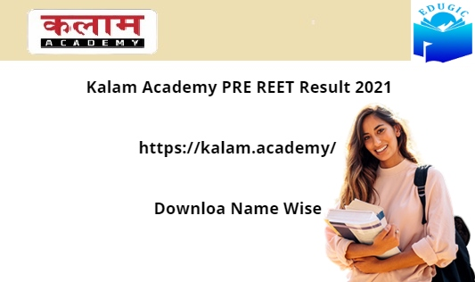 Kalam Academy PRE REET Result 2021
