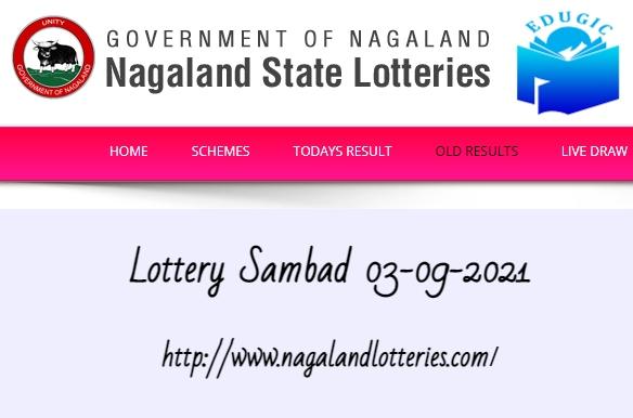 Lottery Sambad 03-09-2021