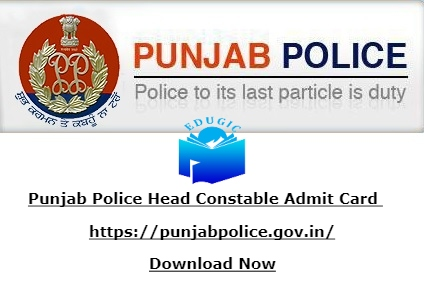 Punjab Police Head Constable Admit Card