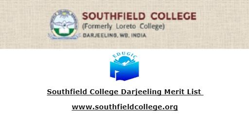 Southfield College Darjeeling Merit List