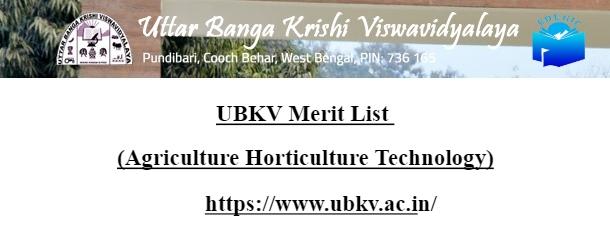 UBKV Merit List