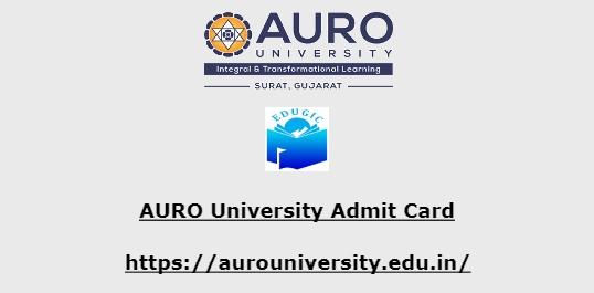 AURO University Admit Card