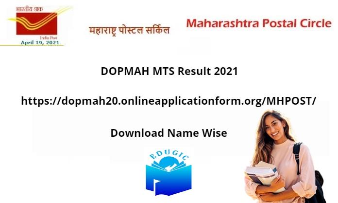 DOPMAH MTS Result 2021
