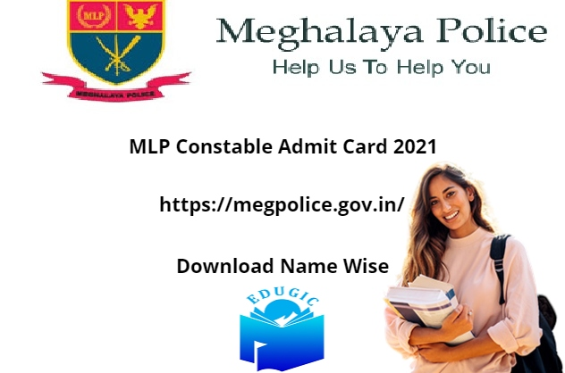 MLP Constable Admit Card 2021