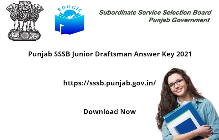 Punjab SSSB Junior Draftsman Answer Key 2021