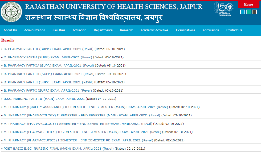 Rajasthan University Of Health Sciences