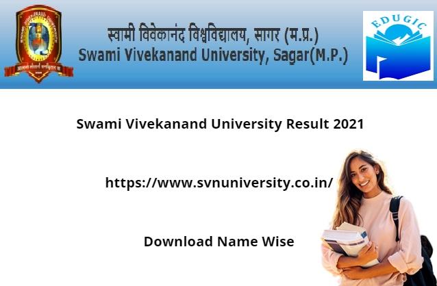 Swami Vivekanand University Result 2021