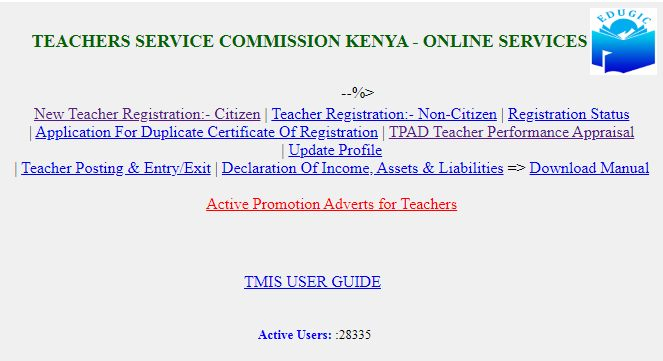 tsc login or register