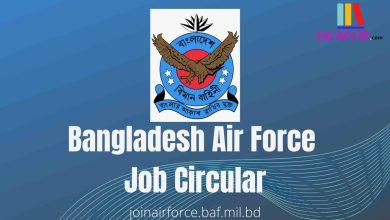 Photo of Bangladesh Air Force Job Circular 2021