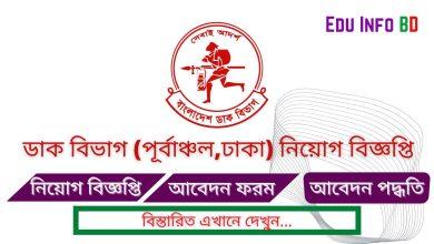 Photo of Post Office Job Circular 2021 East Area Dhaka [APPLY NOW]
