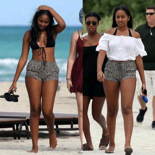 President Obama S Daughter Sasha Flaunts Her Sexy Bikini Body At Miami Beach Photos