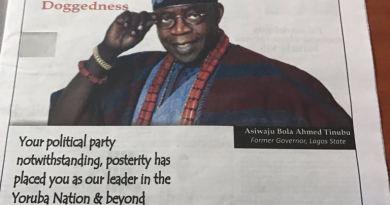 Governor Fayose Celebrates Tinubu's 65th Birthday With Newspaper Advert (Photo)