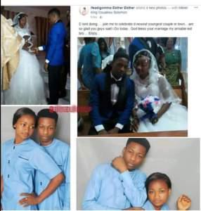 Girl 17 marries fiance 18