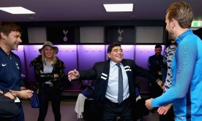 Diego Maradona meets with Tottenham Hotspur Staff and players