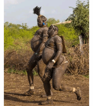 Checkout The African Tribe That Do Not Value Slim Men, See What They Do In Their Festival (Details below)