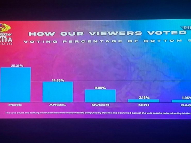 BBNaija: See how viewers voted for Nini, Saga, Queen