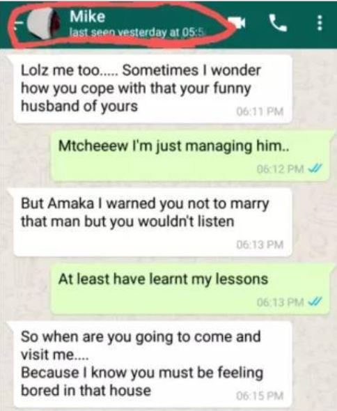 After Three Years Of Marriage See What Husband Found On His Wife's Phone (Screenshots)
