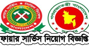 Bangladesh Fire Service Govt Job Circular Application Form, Exam Admit Card Available 2018