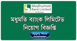 Modhumoti Bank Limited Job Vacancy Career Opportunity