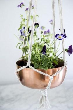 Vasilha de flores com barbante (reprodução do site: ao)