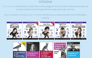 ⓔ Free Technology O'Reilly eBooks (and others) for K12 students and teachers