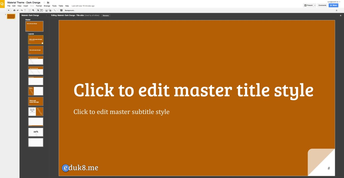 Make your own Google Slides Themes