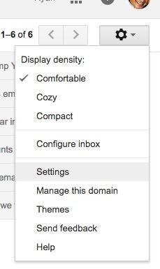 Go to settings like a boss.