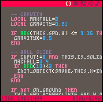 Pico-8 editor