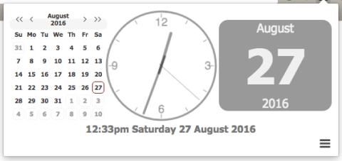 Clock for Chrome show calendar
