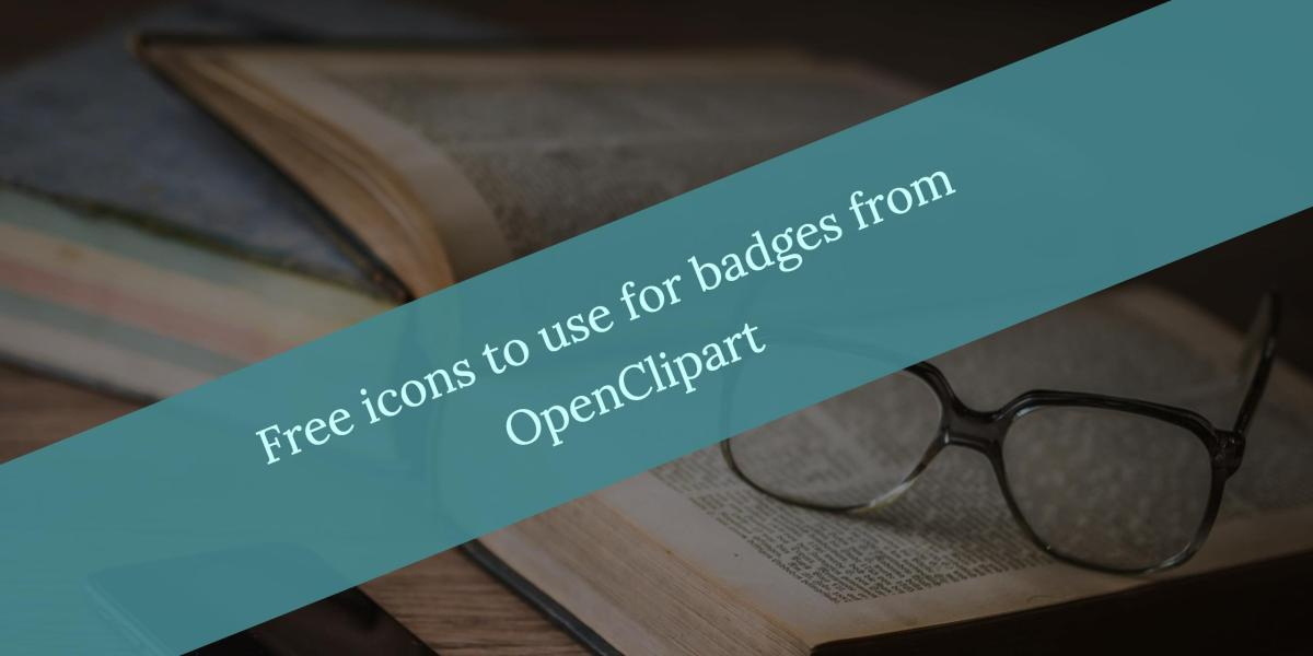 Free icons to use for badges from OpenClipart