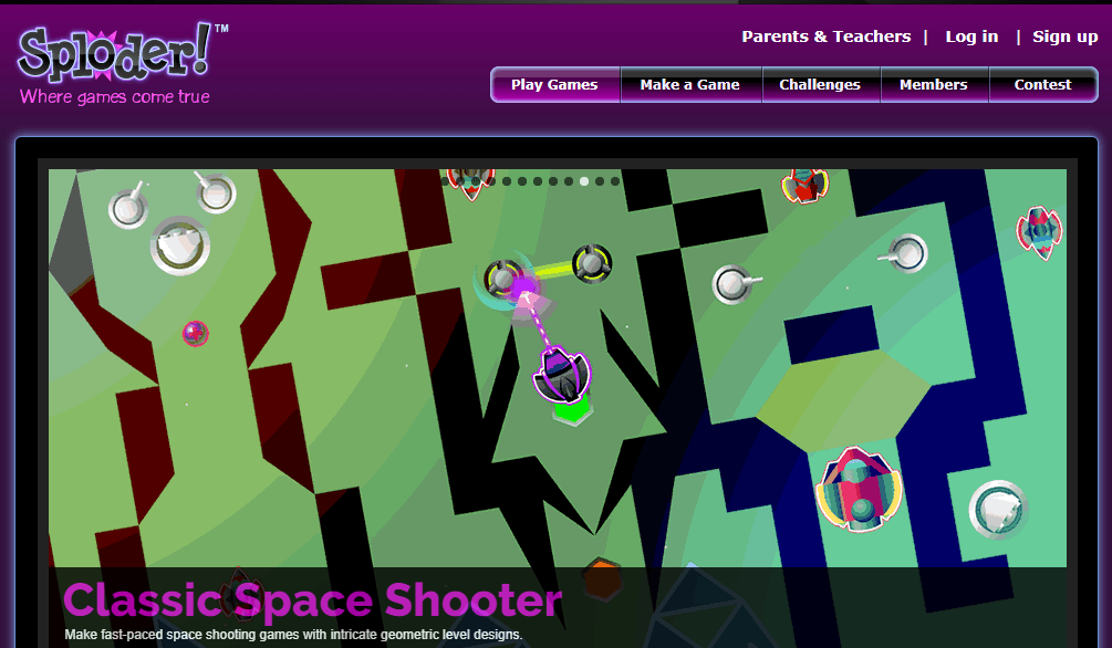 {Edtech} Sploder allows teachers and students to create video games