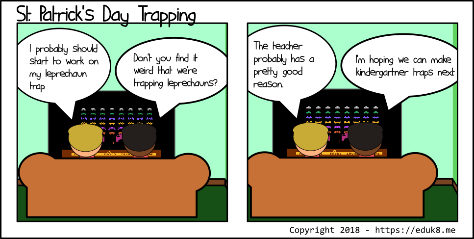 {Comic} St. Patrick's Day Trapping